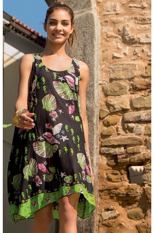 98d9e4ba8d1c Черное женское платье для пляжа Iconique IC7 042