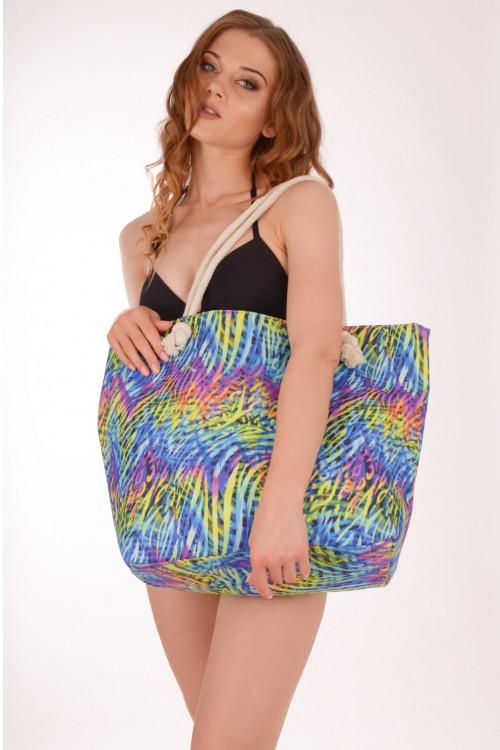 696fb6da1df5 Женская пляжная сумка с ярким принтом Argento 2151-1486