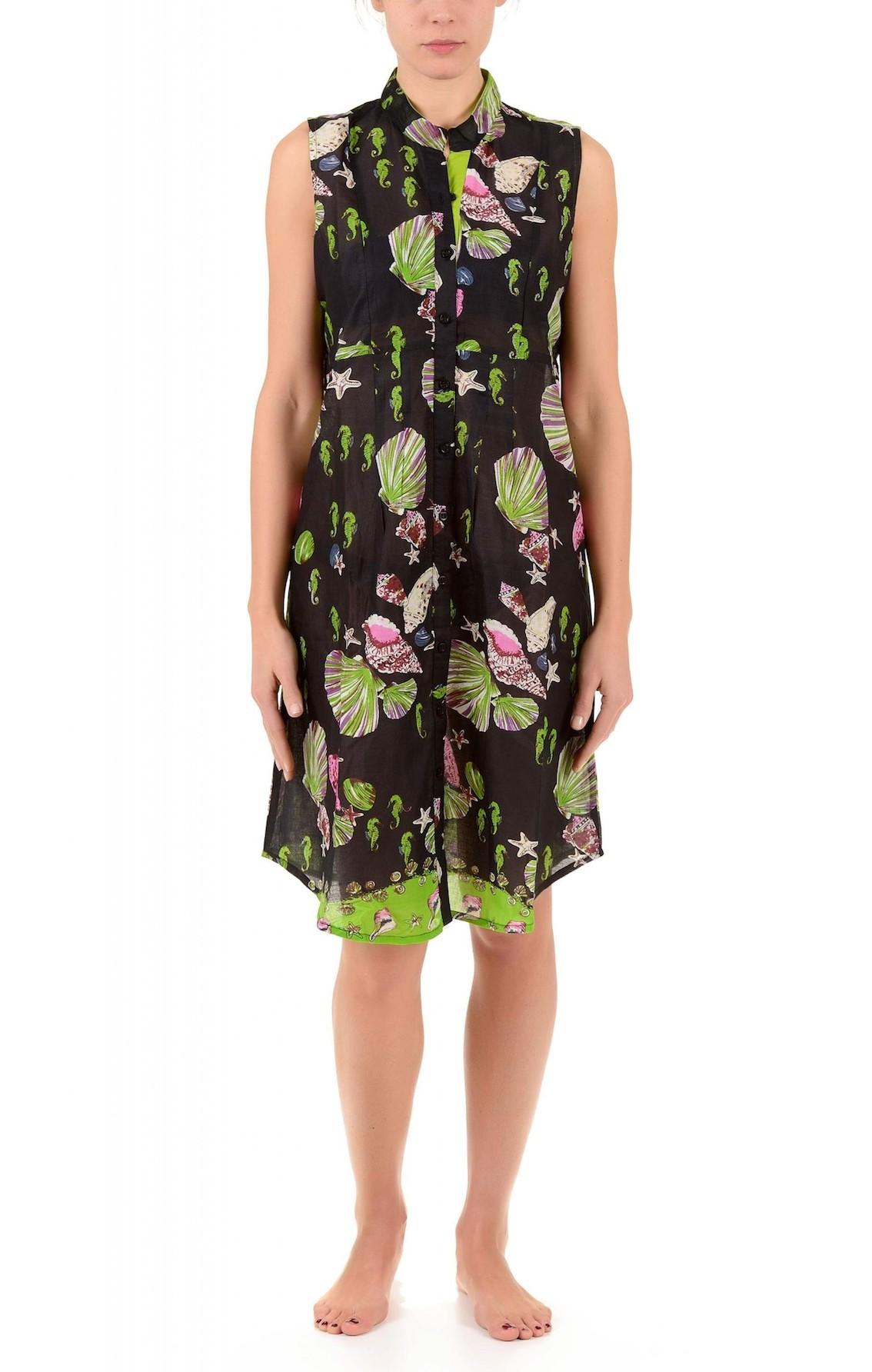 19cae50c9fb8 Черное пляжное платье для женщин с принтом, свободного широкого кроя ...