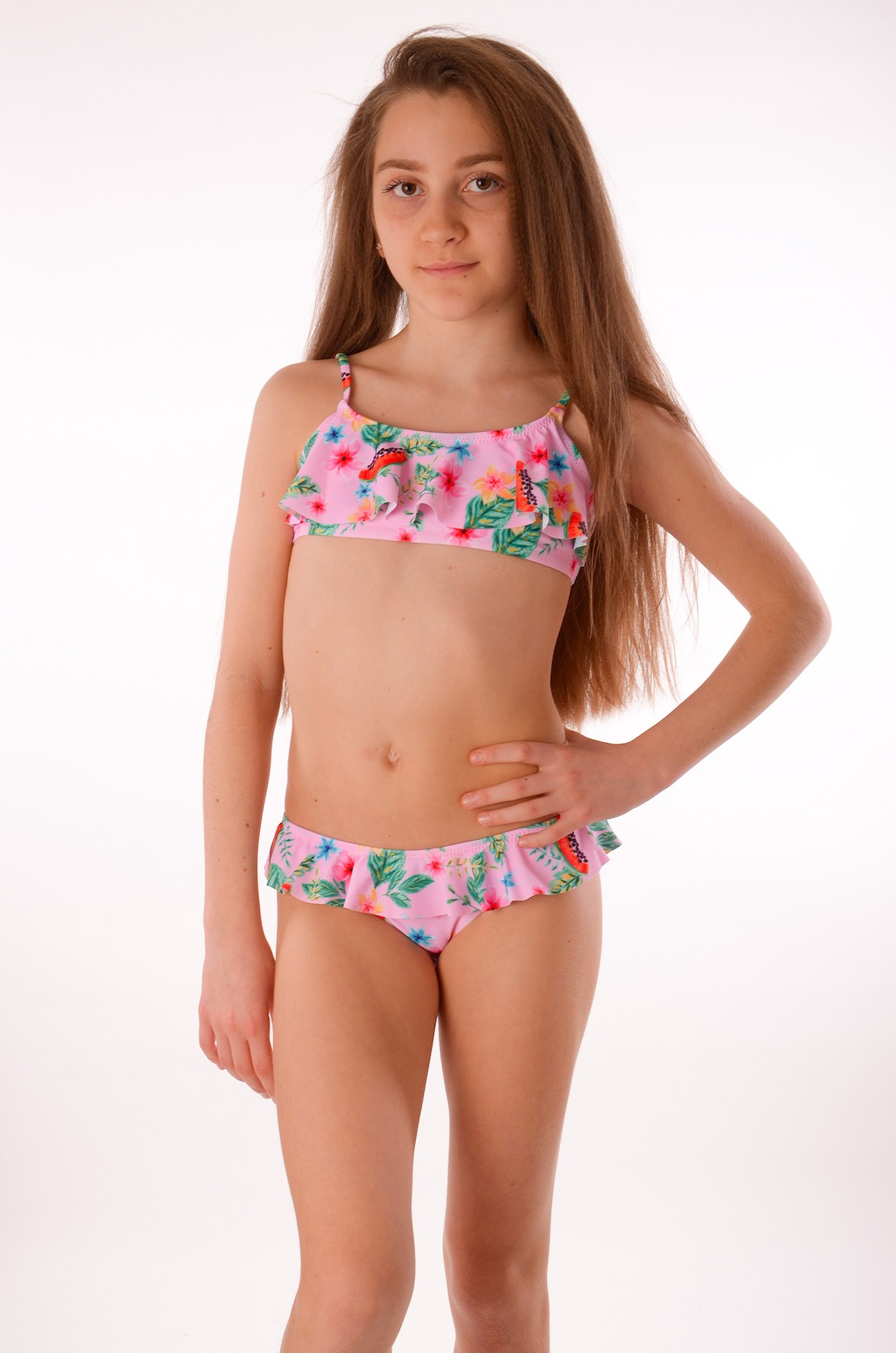 06b609accb392 Розовый детский купальник Keyzi Fruits R Розовый детский купальник Keyzi  Fruits R ...